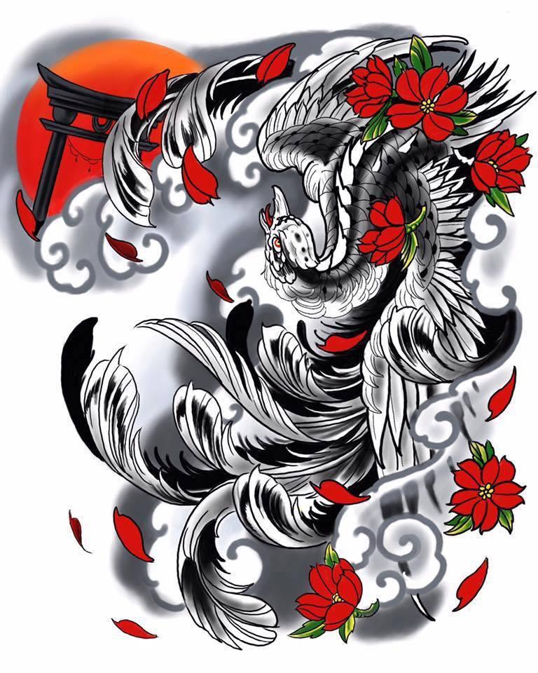 Phoenix Tattoo By Sandy Domont Studio De Tatouage à